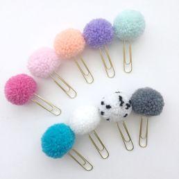paper clip pom pom
